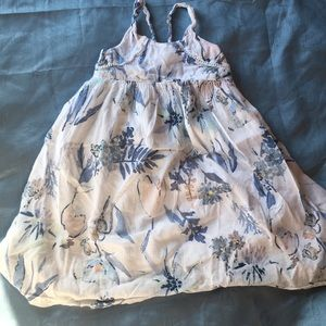 Old Navy white floral maxi dress 2T